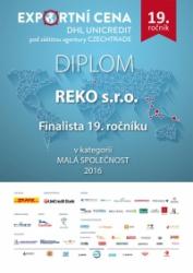 Finalista 19. ročníku EXPORTNÍ CENY